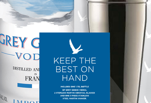 Grey Goose Holiday Packaging